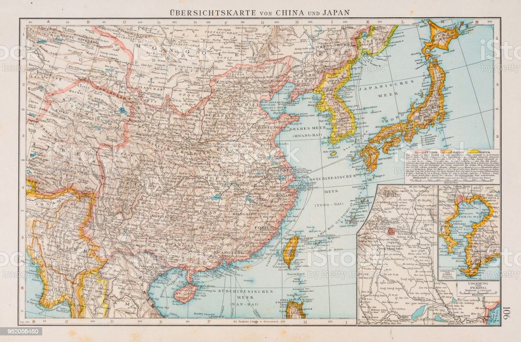 Map of china and japan 1896 stock vector art more images of map of china and japan 1896 royalty free map of china and japan 1896 stock gumiabroncs Gallery