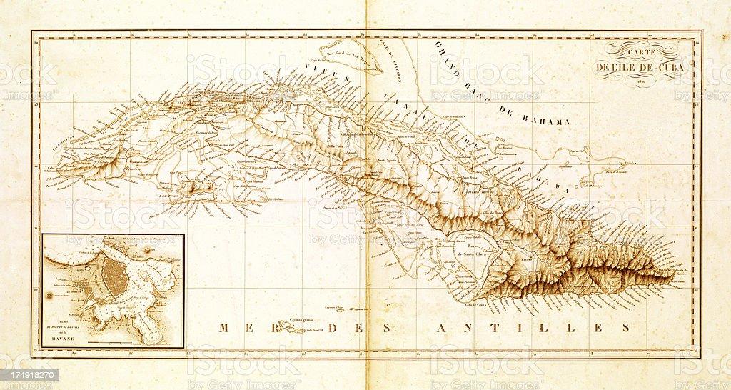 Carte Cuba Amerique.Carte De Cuba Des Annees 1820 Vecteurs Libres De Droits Et Plus D