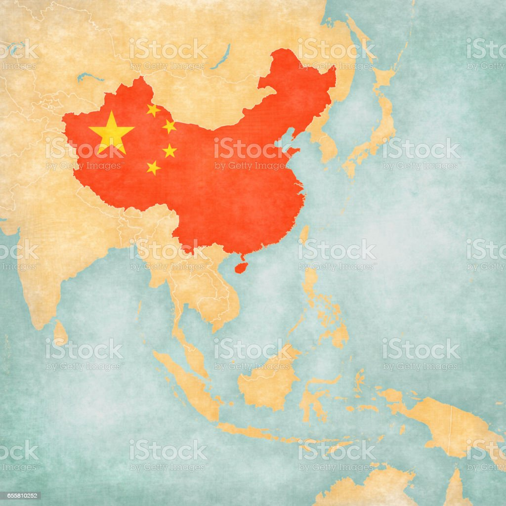 Map Of East Asia China Stock Vector Art & More Images of Asia ...
