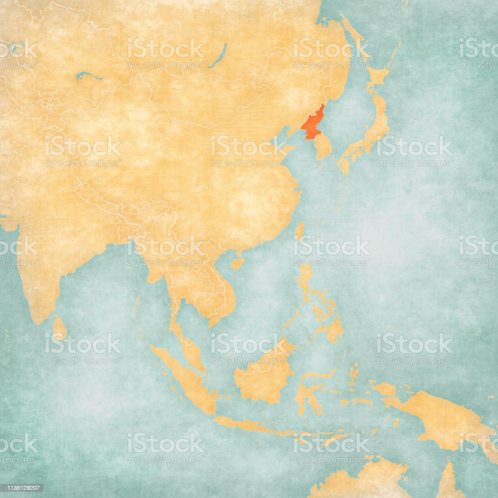 A Map Of East Asia.Map Of East Asia North Korea Stock Illustration Download Image Now