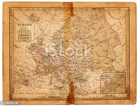 an old map from europe (1884)