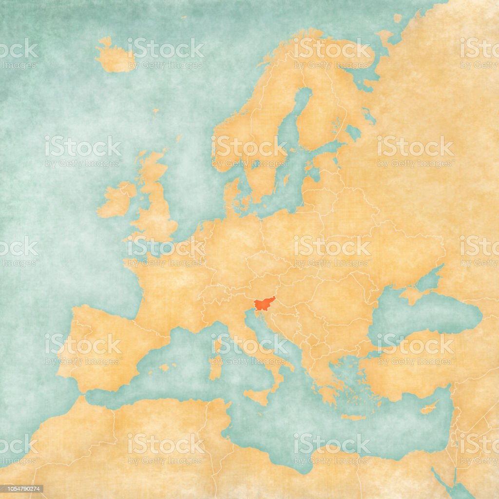 Map Of Europe Slovenia Stock Vector Art & More Images of Continent ...