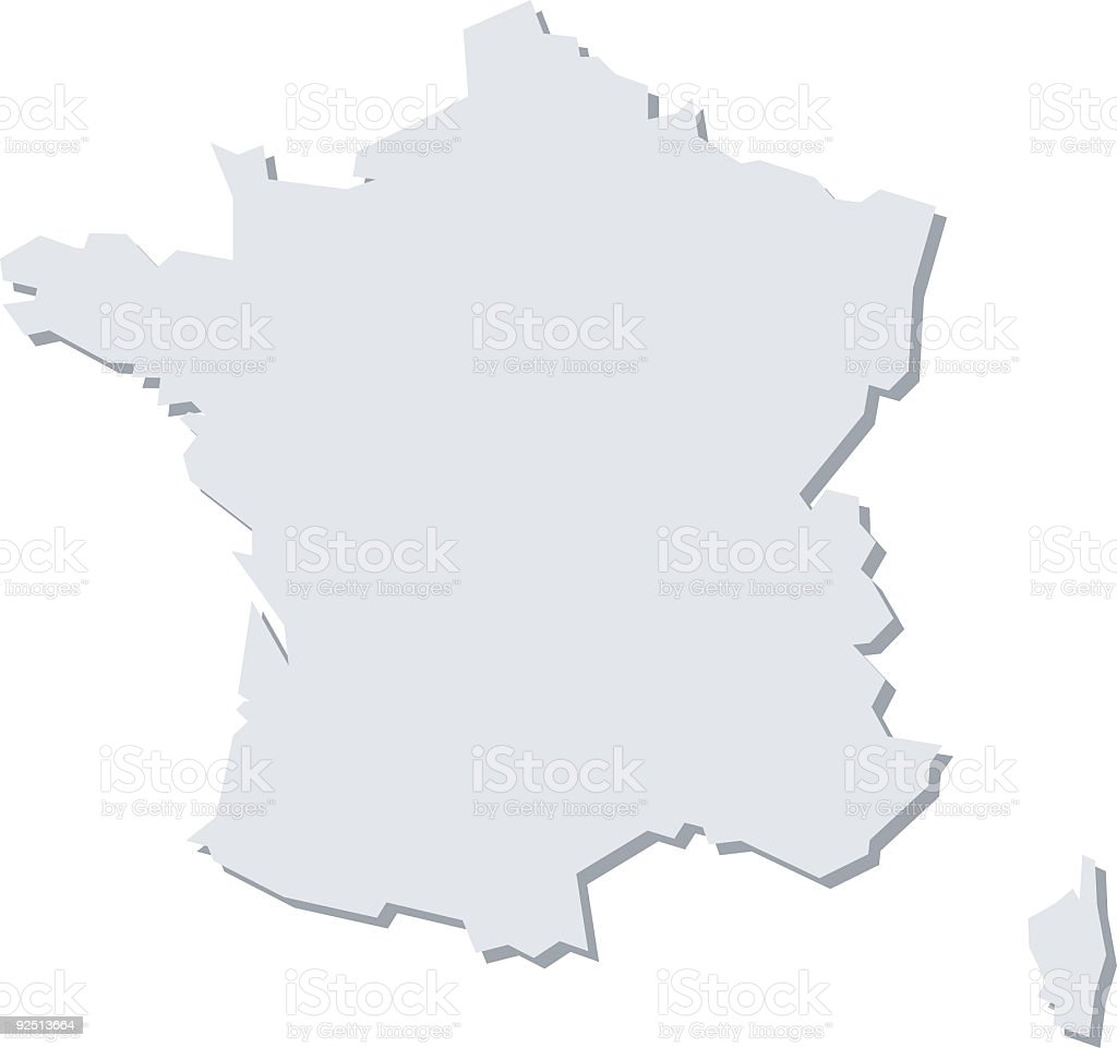 Map of France, French Vector Illustration royalty-free stock vector art