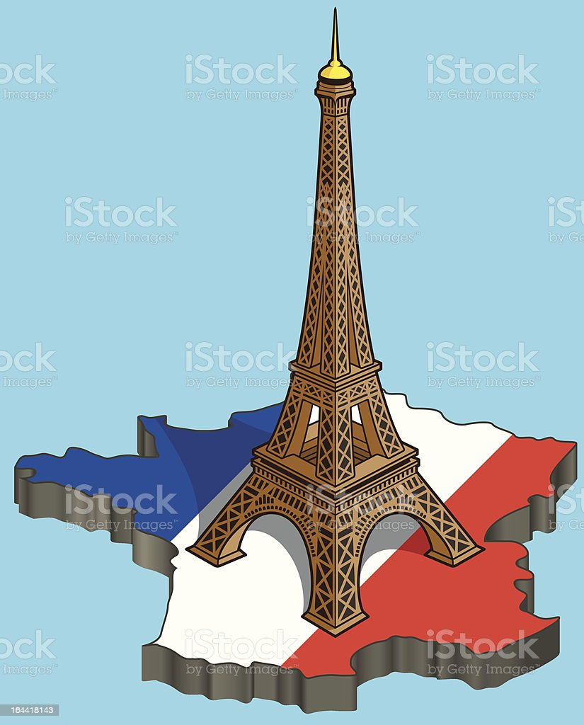 3D map of France royalty-free 3d map of france stock vector art & more images of built structure