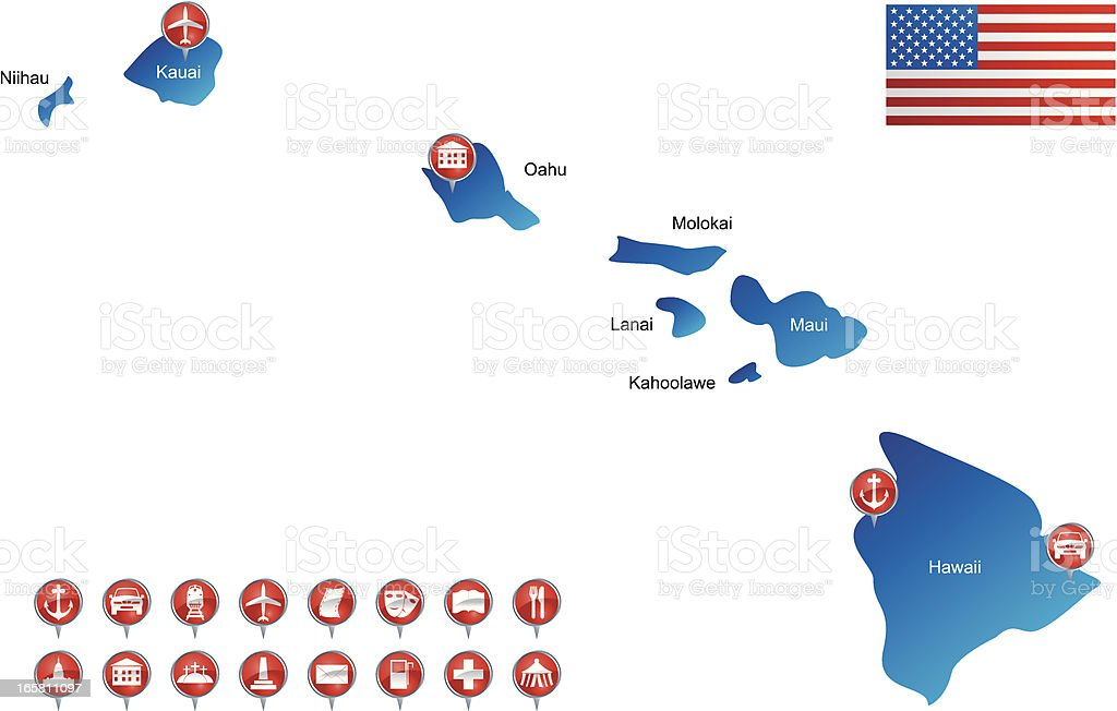 Map of Hawaii royalty-free map of hawaii stock vector art & more images of airport