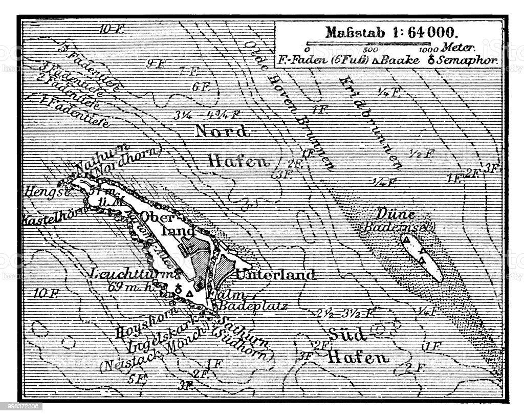 Deutsche Nordseeküste Karte.Karte Von Helgoland Ist Eine Kleine Deutsche Inselgruppe In Der
