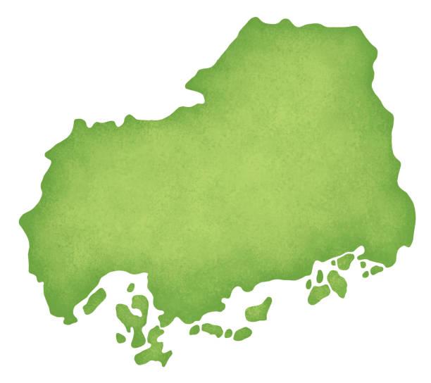 hiroşima haritası - hiroshima stock illustrations