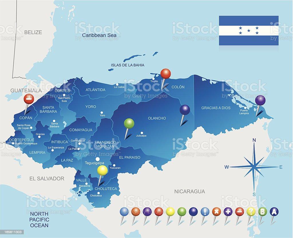 Map of Honduras royalty-free map of honduras stock vector art & more images of arrow symbol