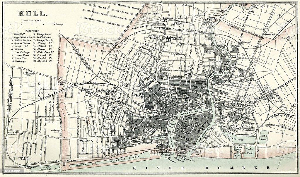 Map of Hull vector art illustration