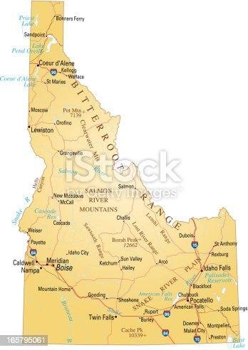 istock Map of Idaho 165795061