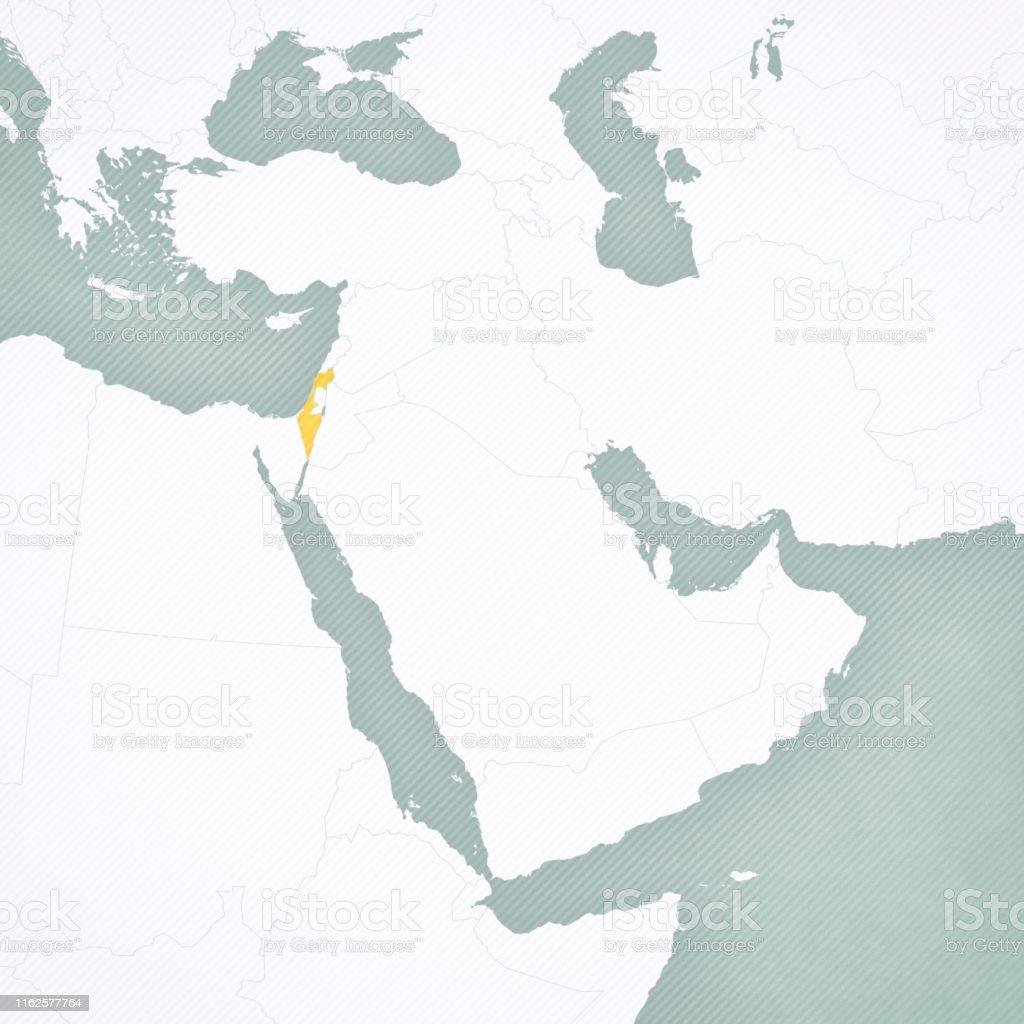 Karte Naher Osten Israel.Karte Von Naher Osten Israel Stock Vektor Art Und Mehr