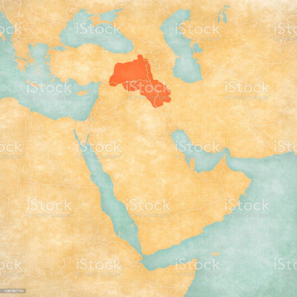 Kurdistan Karte 2019.Map Of Middle East Kurdistan Stock Illustration Download