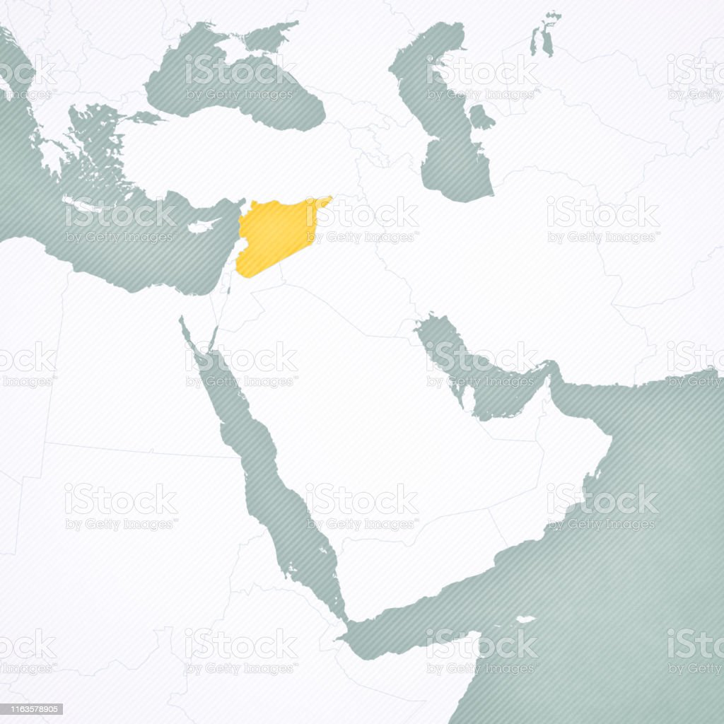 Map Of Middle East Syria Stock Illustration - Download Image ...