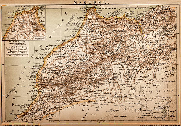 ilustraciones, imágenes clip art, dibujos animados e iconos de stock de mapa de marruecos - mapa de oriente medio