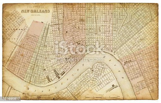 Map of New Orleans 1865
