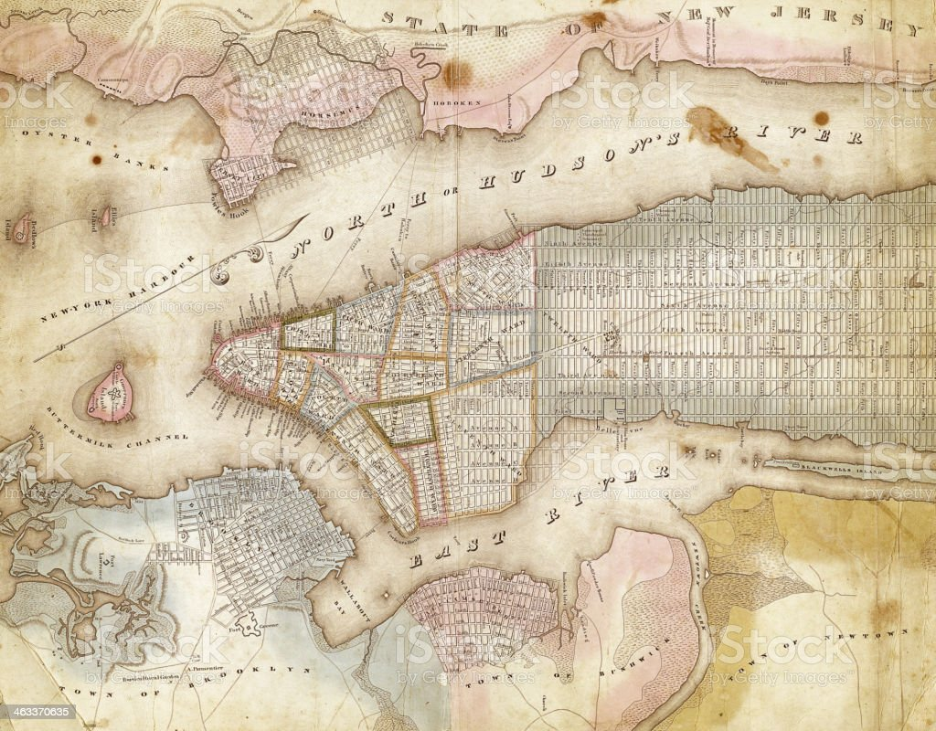map of new york city 1832 vector art illustration