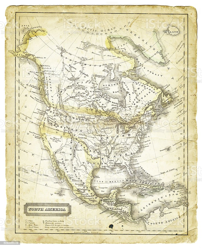 Map Of North America 1821 Stock Illustration - Download ...
