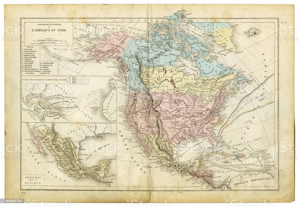 map of north america 1882 royalty free map of north america 1882 stock vector art