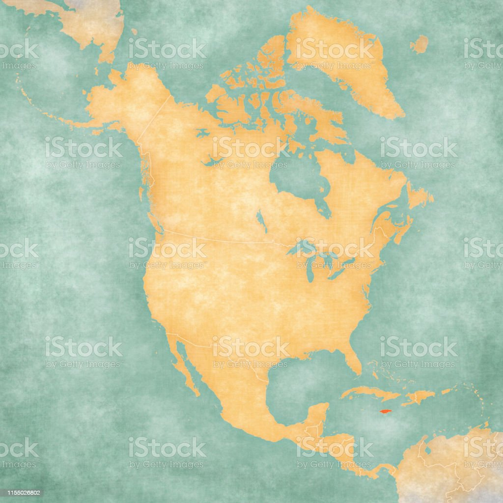Map Of North America Jamaica.Map Of North America Jamaica Stock Illustration Download