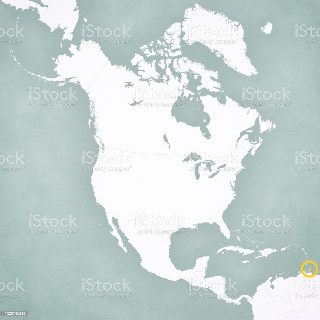 Picture of: Map Of North America Trinidad And Tobago Stock Illustration Download Image Now Istock