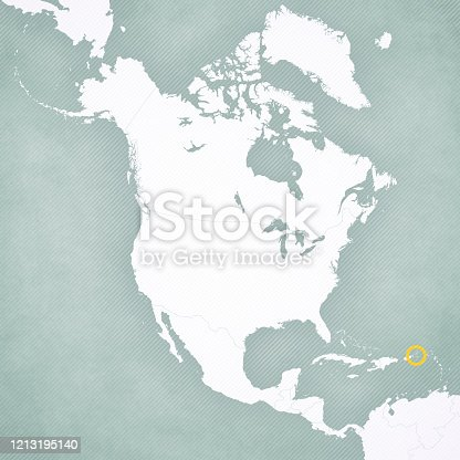 istock Map of North America - U.S. Virgin Islands 1213195140