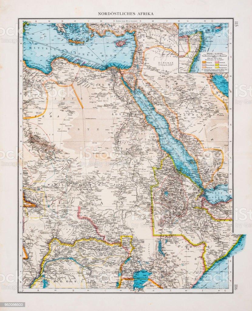 östra afrika karta Karta I Norra östra Afrika 1896 vektorgrafik och fler bilder på  östra afrika karta