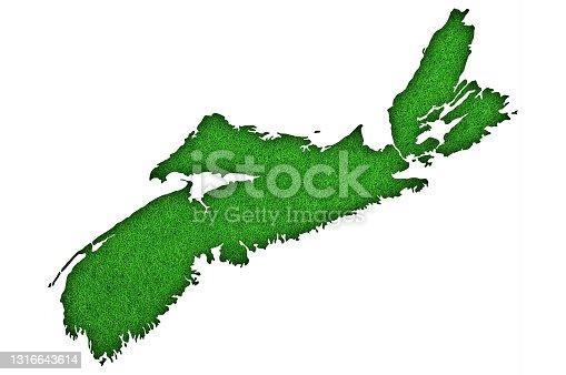istock Map of Nova Scotia on green felt, 1316643614
