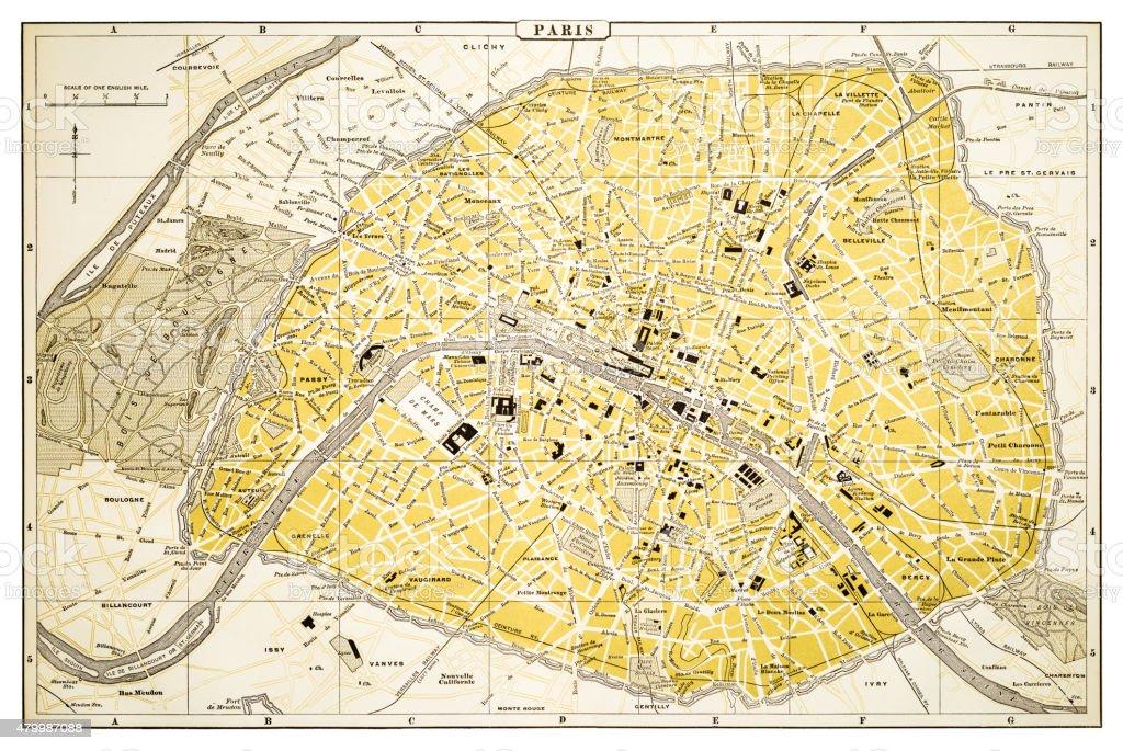 map of paris 1894 royalty free map of paris 1894 stock vector art