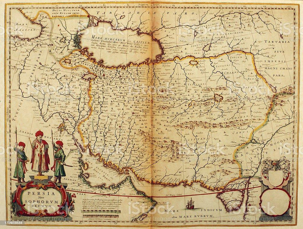 Persien Karte.Karte Von Persien 1635 Stock Vektor Art Und Mehr Bilder Von Alt Istock