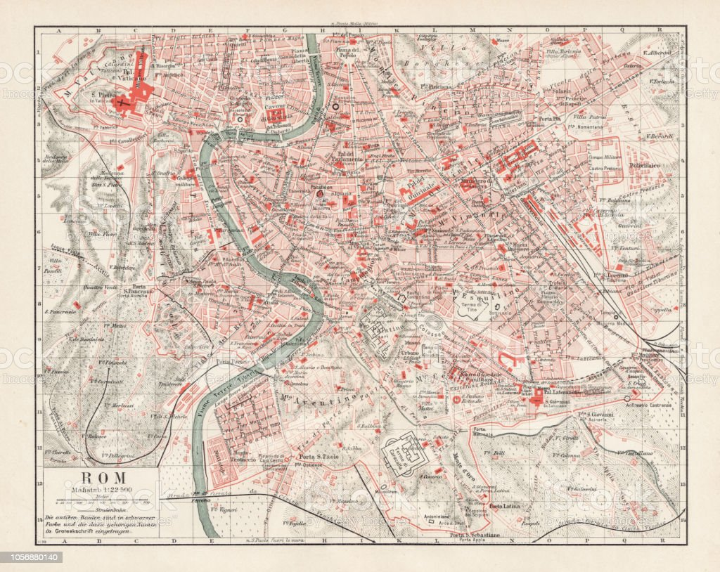 Map Of Rome 1900 Stock Illustration - Download Image Now - iStock Download Map Of Rome on