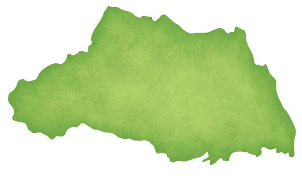 埼玉県の地図 - 埼玉点のイラスト素材/クリップアート素材/マンガ素材/アイコン素材