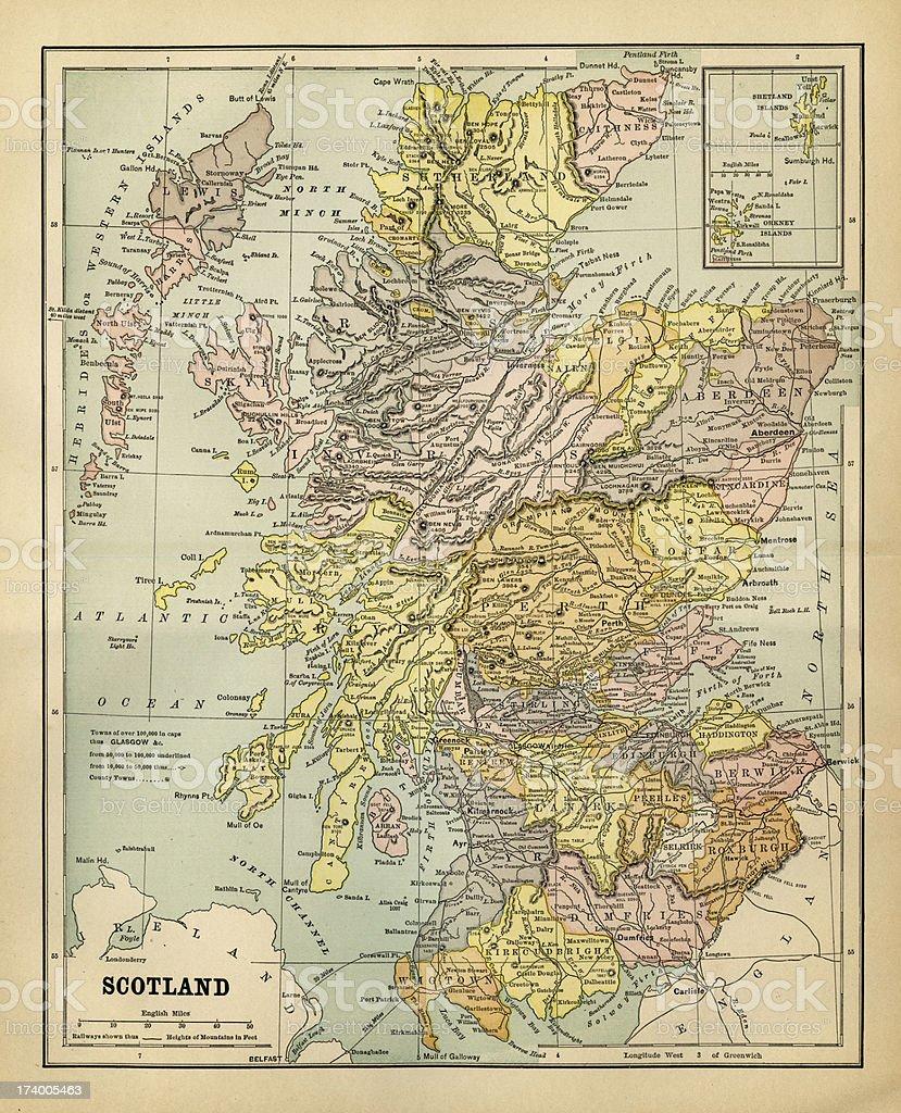 Cartina Fisica Della Scozia