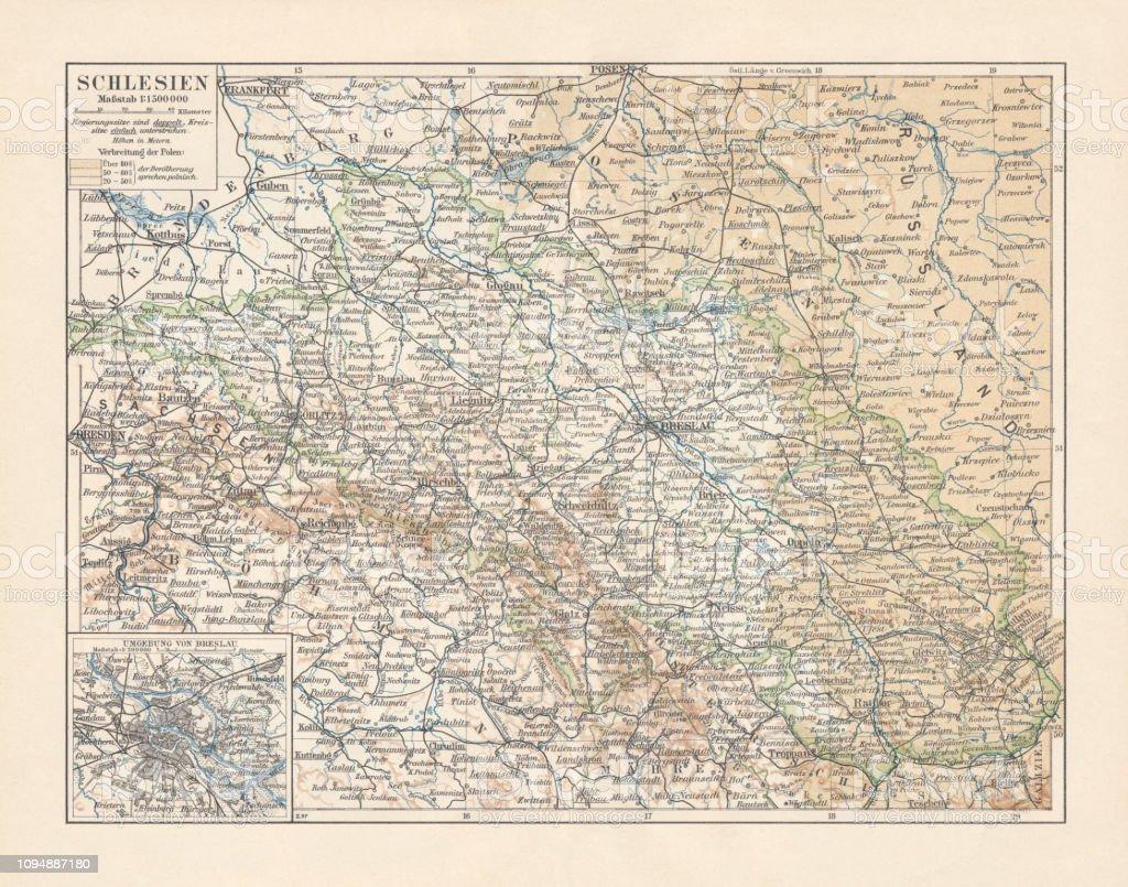 Schlesien Karte Heute.Karte Von Schlesien Ehemaligen Deutschen Reich Heute Polen
