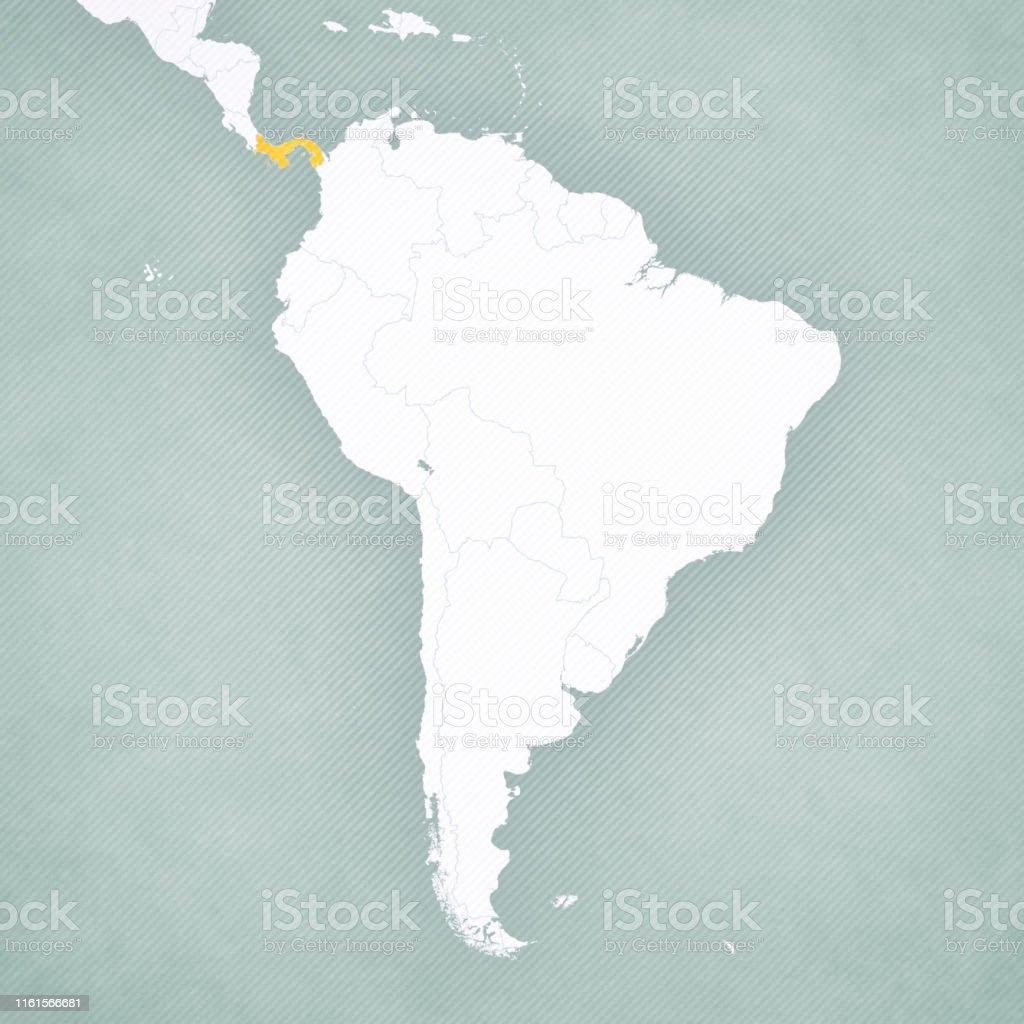Carte Amerique Du Sud Et Panama.Carte De Lamerique Du Sud Panama Vecteurs Libres De Droits