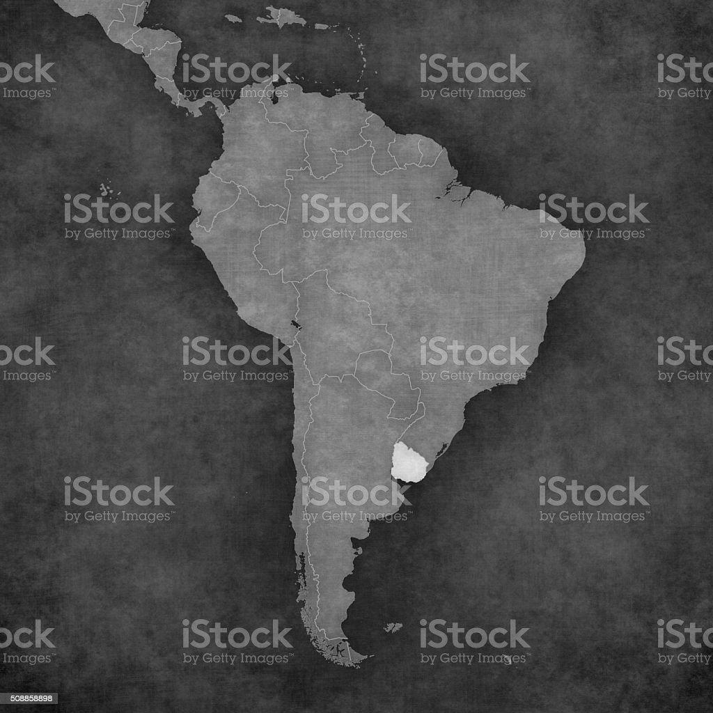 Carte Amerique Latine Uruguay.Carte De Lamerique Du Sud Uruguay Vecteurs Libres De Droits Et
