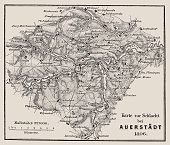 Illustration of a Map of the Battle of Jena and Auerstedt (Auerstädt) 1806