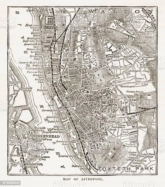 Vetores De Mapa Da Cidade De Liverpool Inglaterra Vitoriana Da Gravura 1840 E Mais Imagens De Aldeia Istock