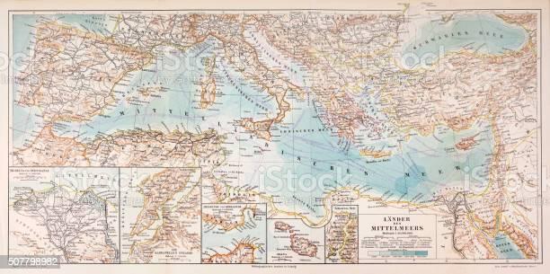 Cartina Fisica Del Mediterraneo.Mappa Dei Paesi Del Mediterraneo 1897 Immagini Vettoriali Stock E Altre Immagini Di Antico Vecchio Stile Istock