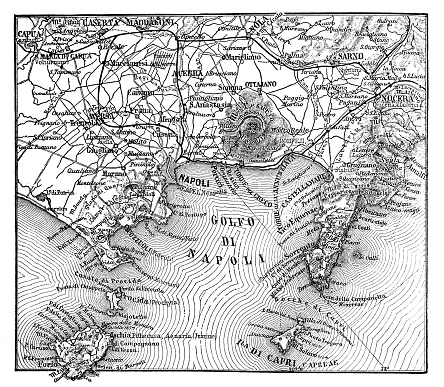 Map of the environs of Naples