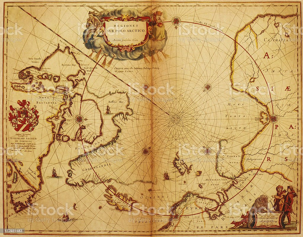 Map of the North Pole 1635 royalty-free map of the north pole 1635 stock vector art & more images of antique