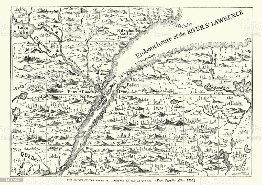 Map Of The St Lawrence River 18th Century Stock Illustration ... Saint Lawrence River Map Of North America on map of lake st. clair, map of appalachian mountains, map of 45th parallel north, map of ellicott creek, map of cazenovia creek, map of saint francis river, map of new france, map of chesapeake bay, map of saint johns river, map of saint lawrence seaway, map of straits of mackinac, map of saint lawrence gulf, st. lawrence river, map of st. lawrence canada, map of saint clair river, map of lake michigan, map of gulf of california, map of st. lawrence county ny, map of lake george, map of tonawanda creek,