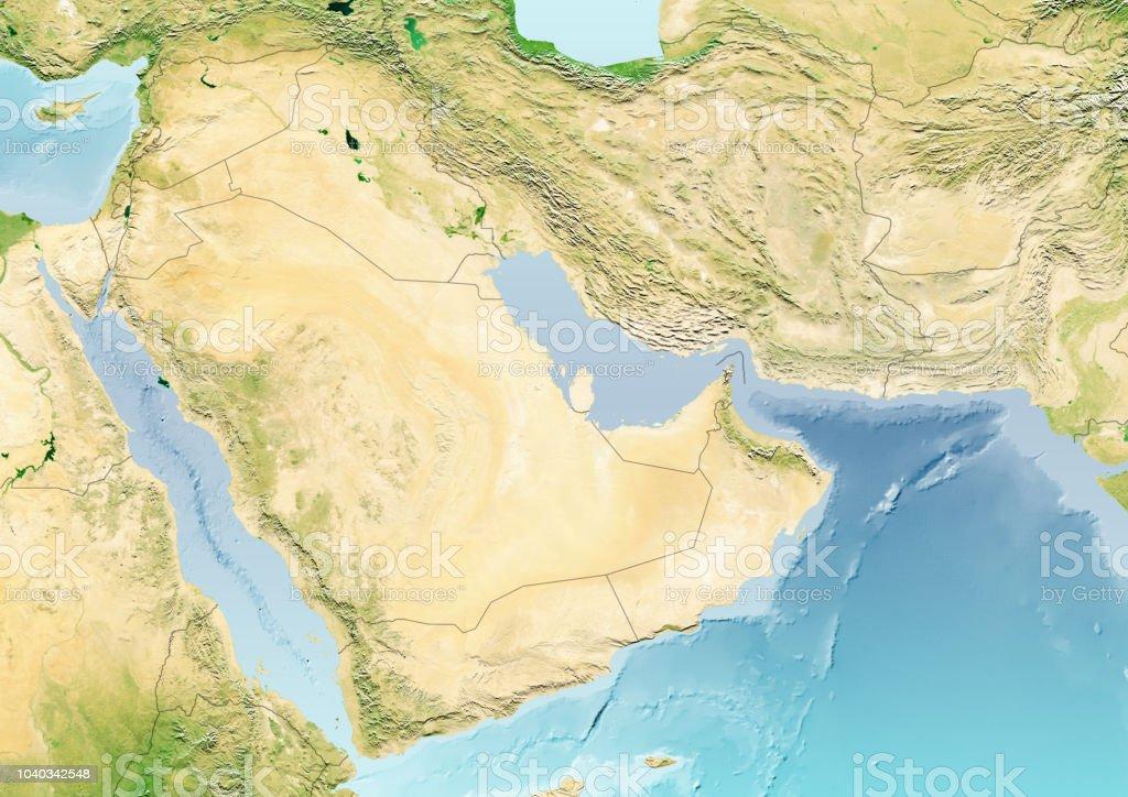 Estrecho De Ormuz Mapa.Ilustracion De Mapa Del Estrecho De Ormuz Y Los Estados