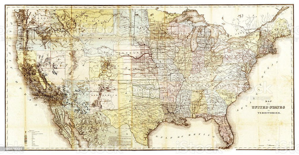 Map Of The United States Stock Vector Art IStock - 1867 us map