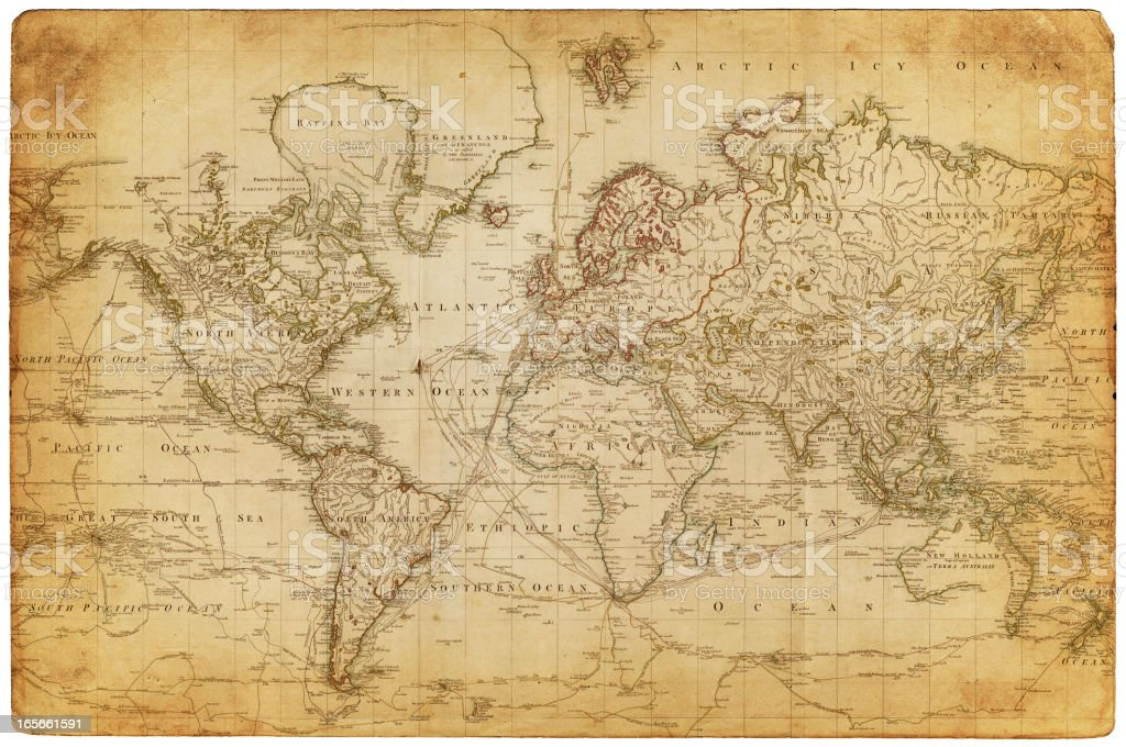 map of the world 1800 royalty-free stock vector art