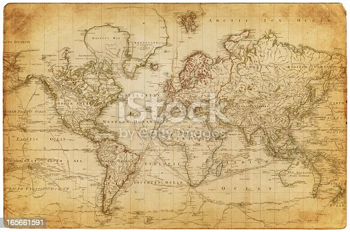 map of the world - 1800