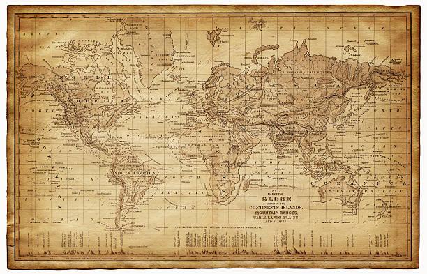 世界地図 1867 - ビンテージの地図点のイラスト素材/クリップアート素材/マンガ素材/アイコン素材