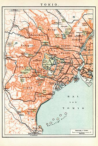 Map of Tokyo Japan 1897