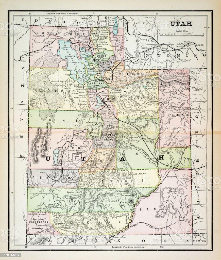 Map Of Utah Stock Vector Art IStock - Utah map usa