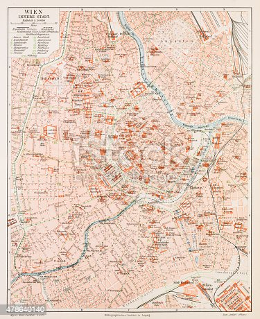 Map of the city of Vienna