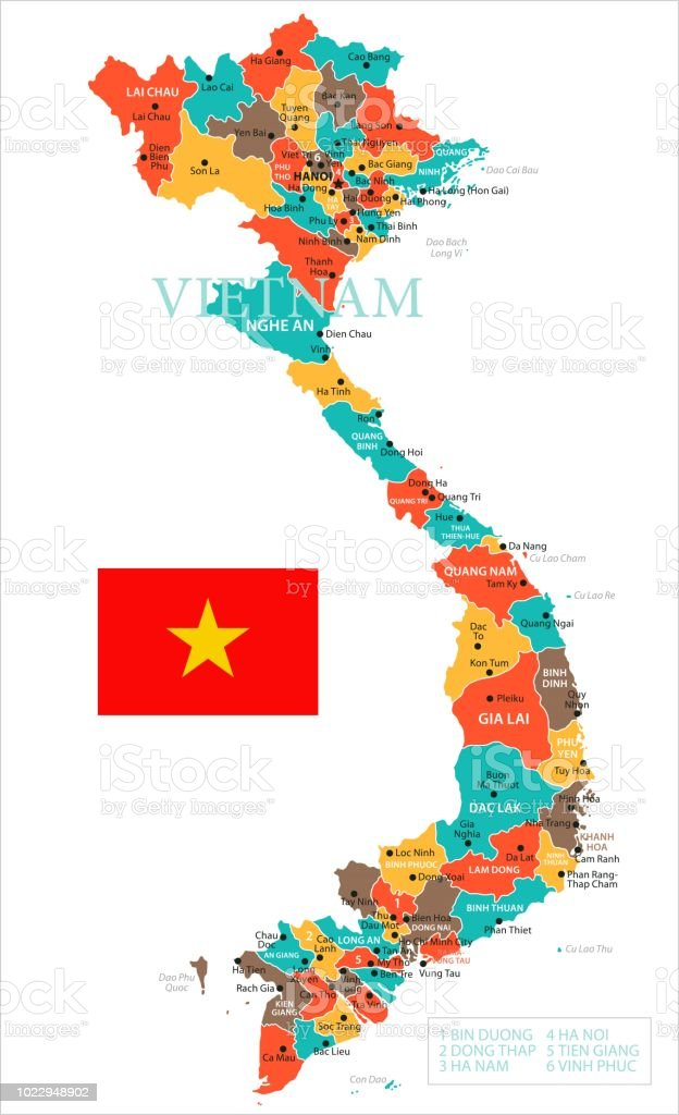 Haiphong Vietnam Map.Map Of Vietnam Infographic Vector Stock Vector Art More Images Of
